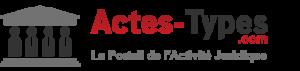 Actes types, portail de l'activité juridique